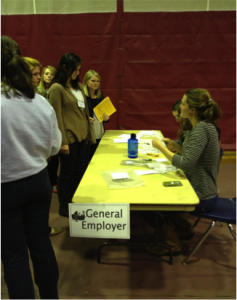 APP AmeriCorps*VISTA, Kevi Martin acting as a service provider during the poverty simulation.